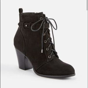 Justfab Dally Faux Suede Booties